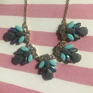Teal and Gold J.Crew Statement Necklace